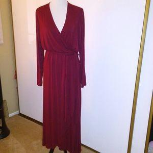 Jersey knit wrap dress